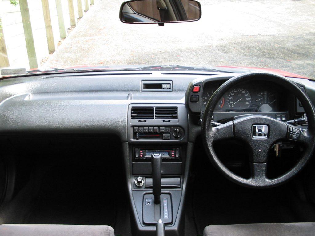 1988 Honda Prelude XX 4WS dash interior