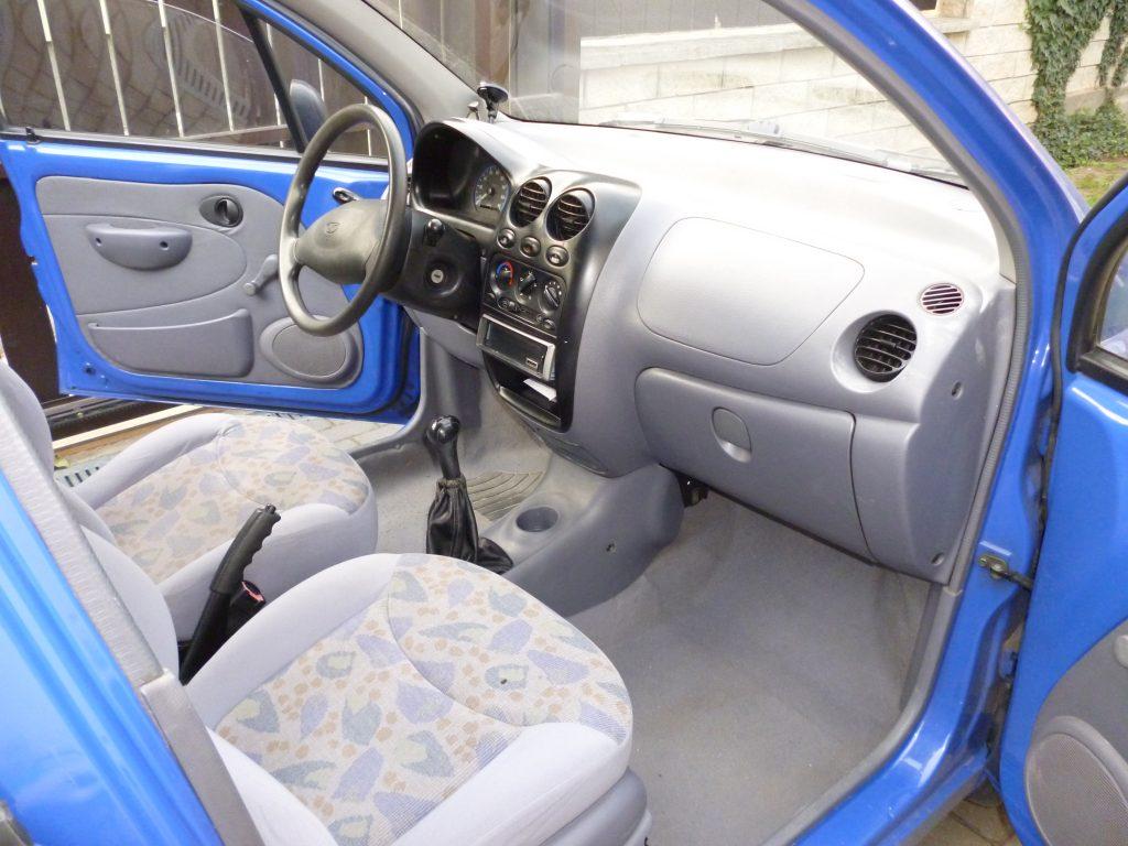1998 Daewoo Matiz 0.8 3-cylinder interior