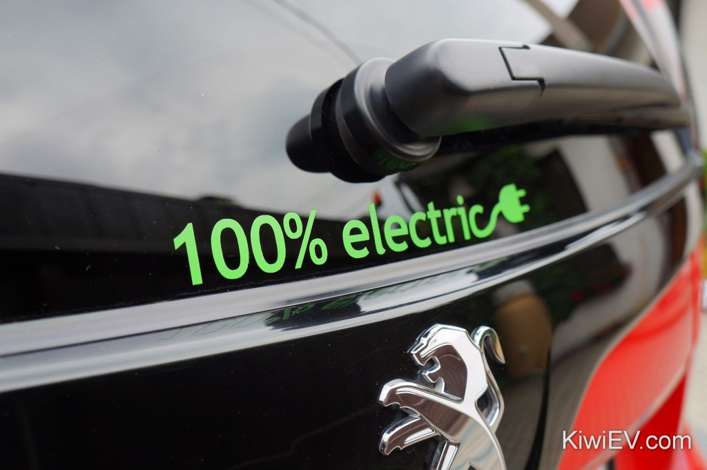 Electric car sticker