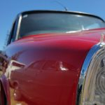 Rover P6 parking light and front curves