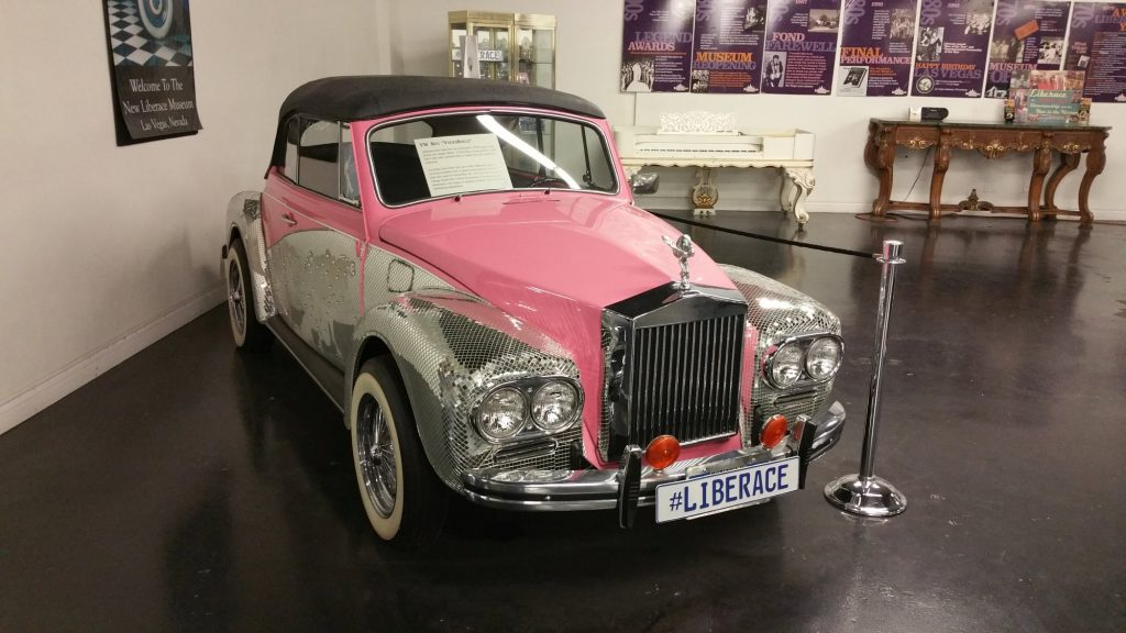 A Volkswagen beetle modified to look like a Rolls Royce for Liberace in the 1970s
