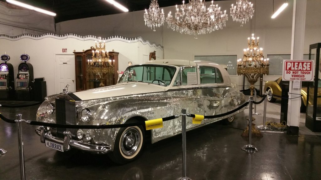 """1961 Rolls-Royce Phantom V Sedanca Deville left-hand drive Limousine by James Young. This was owned by Liberace and detailed with thousands of mirrored tiles. It appeared in the HBO movie """"Behind the Candelabra"""" and was driven by Matt Damon"""
