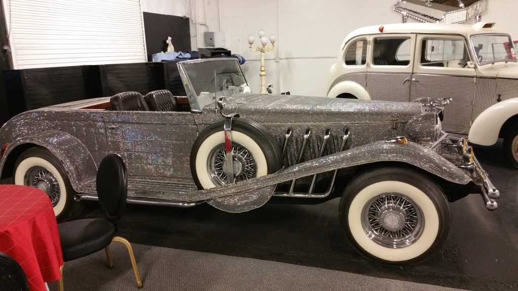 Liberace's Dusenberg Roadster kit car, covered in covered in Austrian crystal