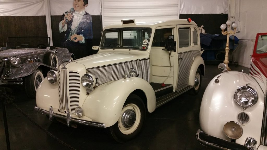 London taxi redecorated and owned by Liberace, which he used to pick up guests from the airport